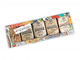Набор шоколада 5 по 50 гр №1 (соль,кедр,пекан,миндаль,инжир)