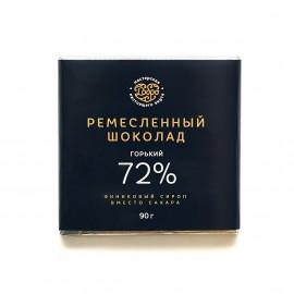 Шоколад Горький, 72% какао на пекмезе (классический), 90гр.