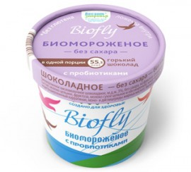 Биомороженое «BIOfly Горький шоколад», 45г