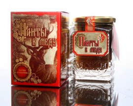 Панты в меду с кусочками губчатого вещества, 250гр.