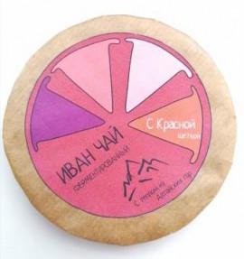Плитка круглая Иван-Чай «Для неё» с красной щёткой, 50 г