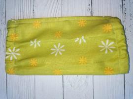 Дизайнерская маска для лица - Зелёная с цветочками