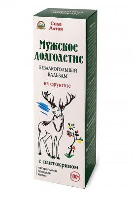 """""""Мужское долголетие"""" с пантокрином (Бальзам на фруктозе), 200 мл."""